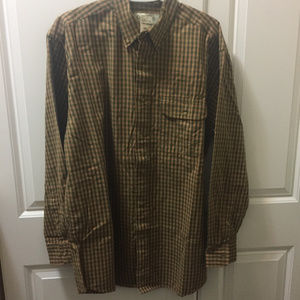 ORVIS Mens Battenkill Tattersall Long Sleeve Sz M
